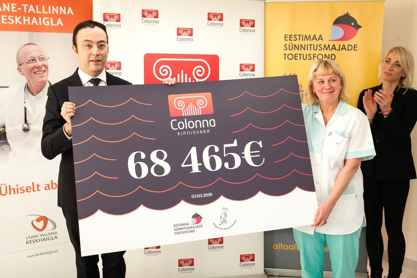 70 000 евро пожертвовано Пельгулиннаскому родильному дому