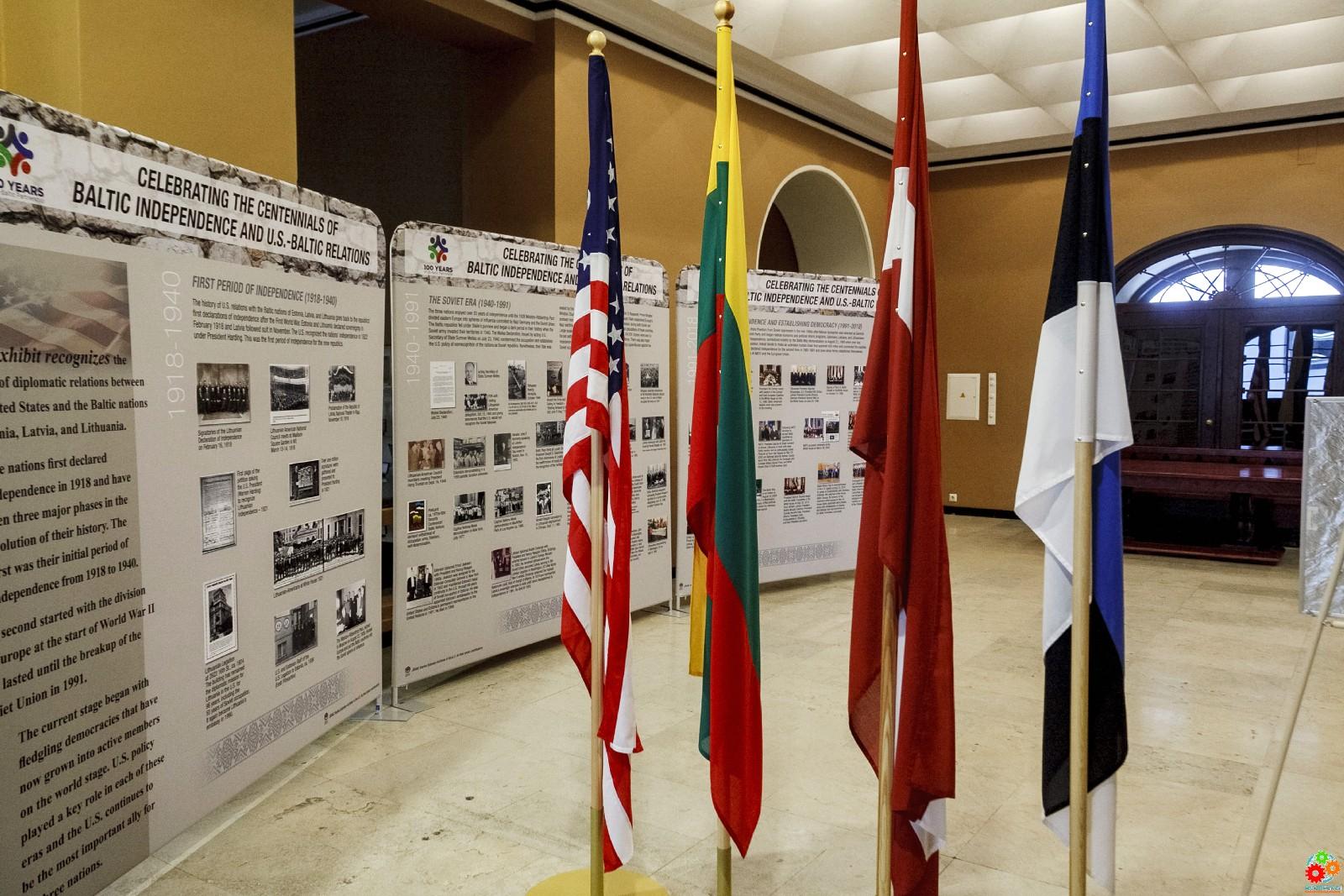 """Выставка: """"Столетие независимости стран Балтии. США и Балтийские отношения"""""""