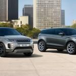 Новый Range Rover Evoque (слева) и предыдущая модель