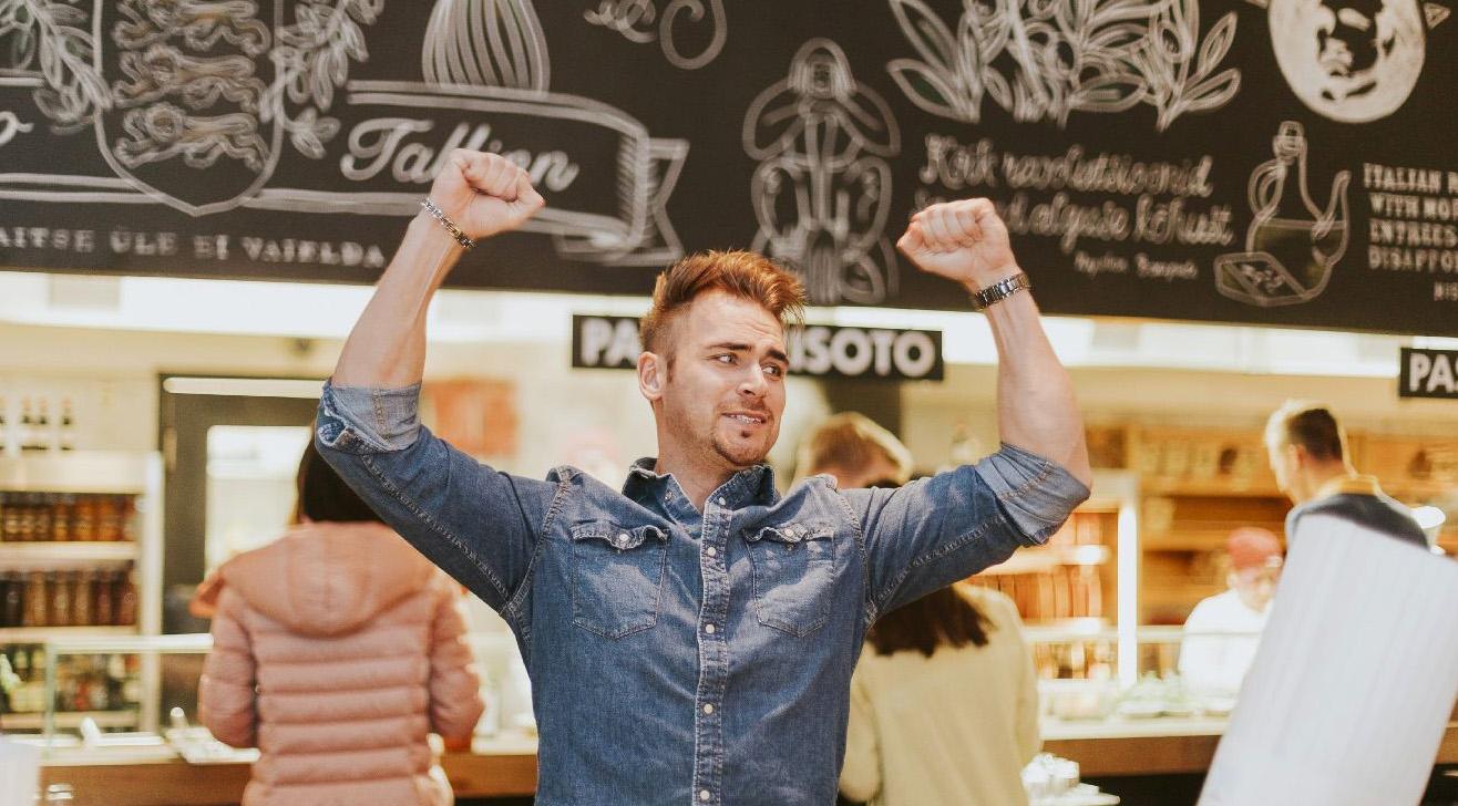 Vapiano на один вечер превратился в веселый ресторан каши