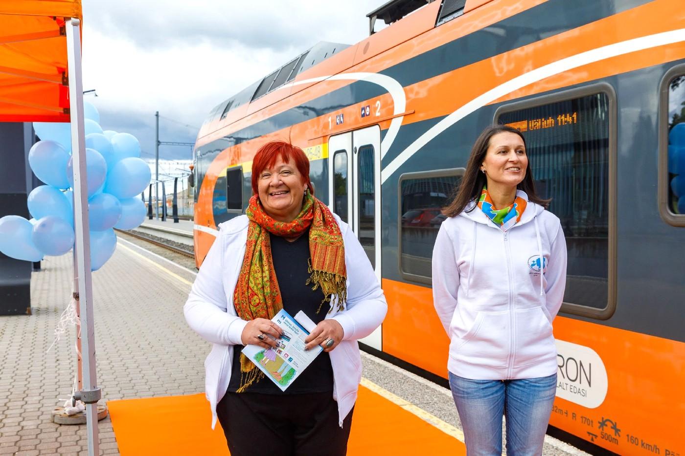 Первый поезд эстонского языка стартовал с Балтийского вокзала