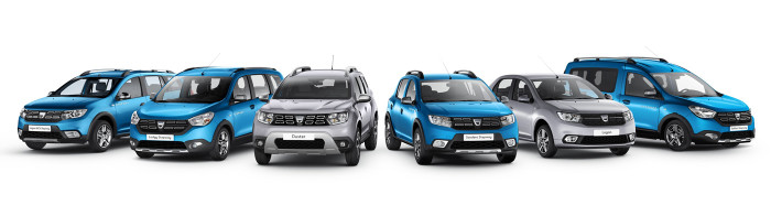 2017 - Dacia range