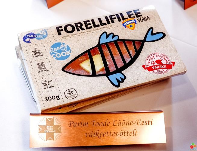 Лучший продукт от малого предприятия Западной Эстонии — филе форели Farmare с сааремааским соленым маслом, Рыбоводческое Объединение Ecofarm