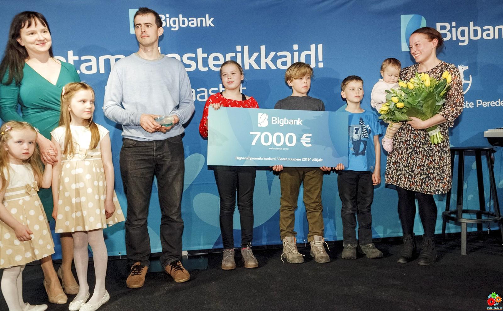 Титул «Большая семья 2019» получила семья Соон из Выруского уезда