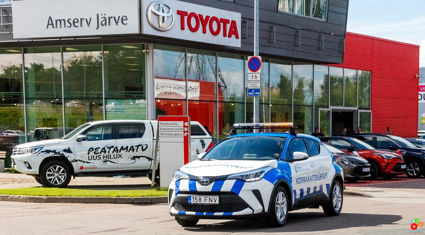 Amserv: Таллиннская Муниципальная полиция меняет свой автопарк на гибридные автомобили