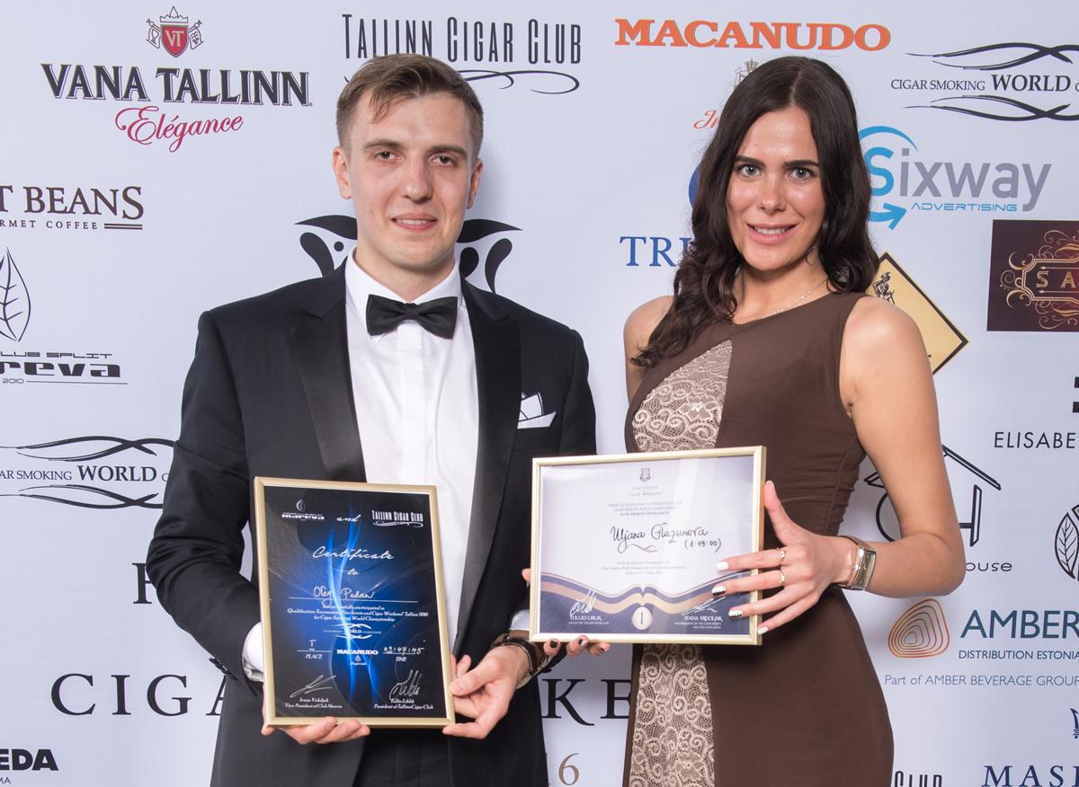 Олег Педан и Ульяна Глазунова — победители чемпионата по медленному курению сигары