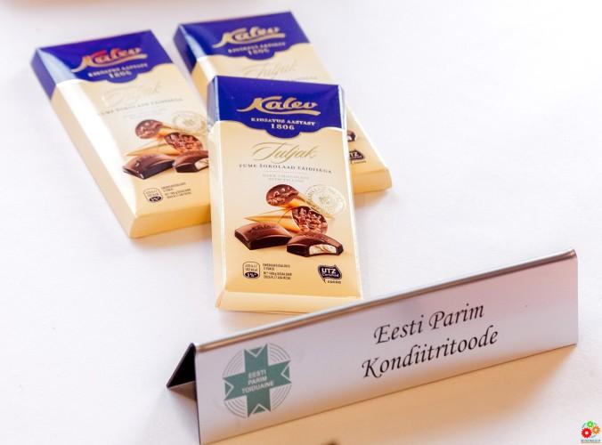 Лучшее кондитерское изделие Эстонии 2017 — темный шоколад Tuljak с начинкой, Kalev AS