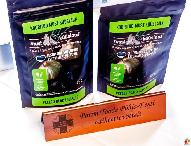 Лучший продукт от малого предприятия Северной Эстонии — очищенный черный чеснок, Must Küüslauk OÜ
