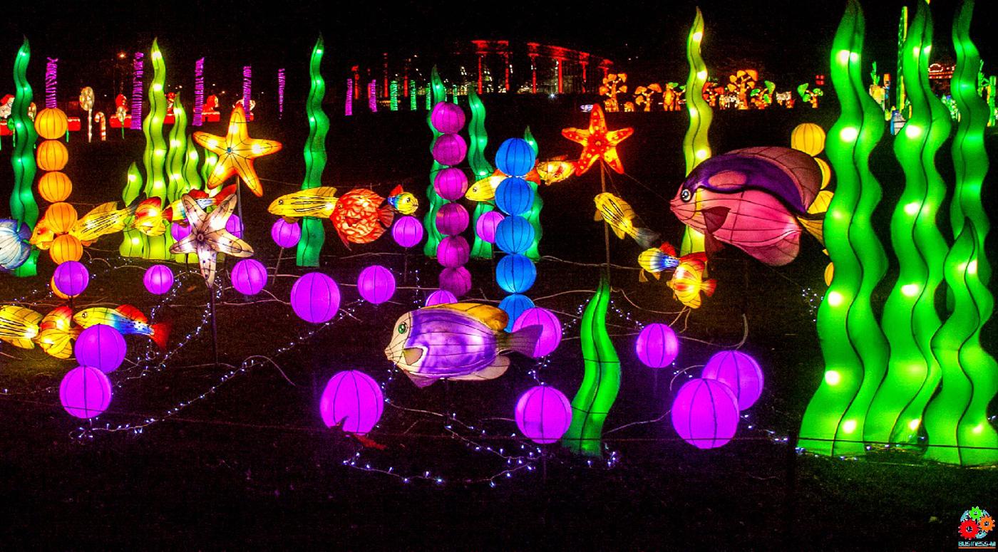 На таллиннском Певческом поле сияет грандиозный парк световых скульптур