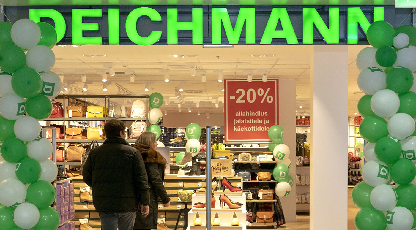 Сеть обувных магазинов DEICHMANN открыла в Эстонии свой третий магазин