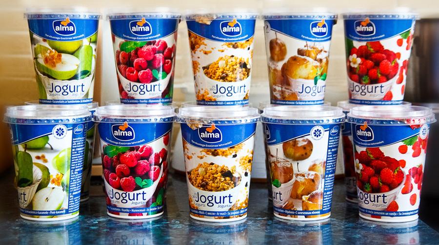 Новые вкусы йогуртов Alma