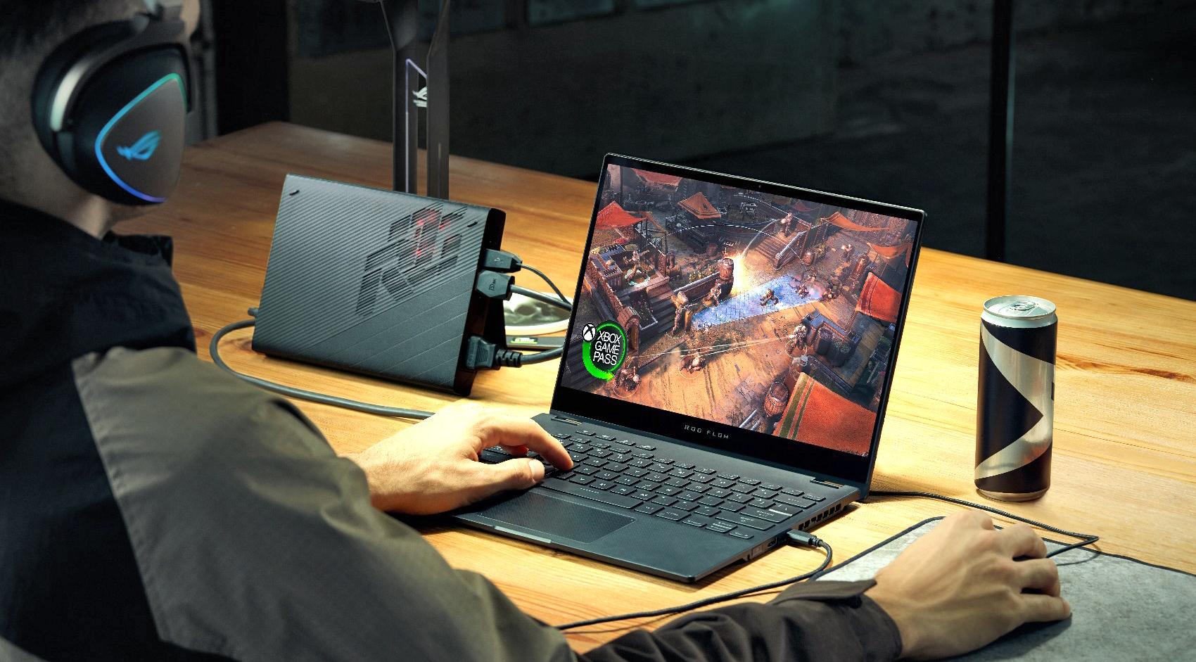 ASUS ROG Flow X13 — геймерский ноутбук-трансформер  с внешней видеокартой XG Mobile