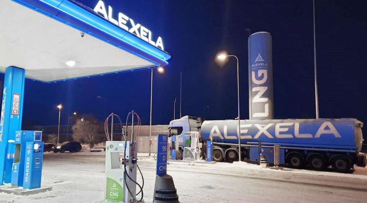 Alexela: На заправка в Юри установлена дополнительная CNG колонка с биометаном