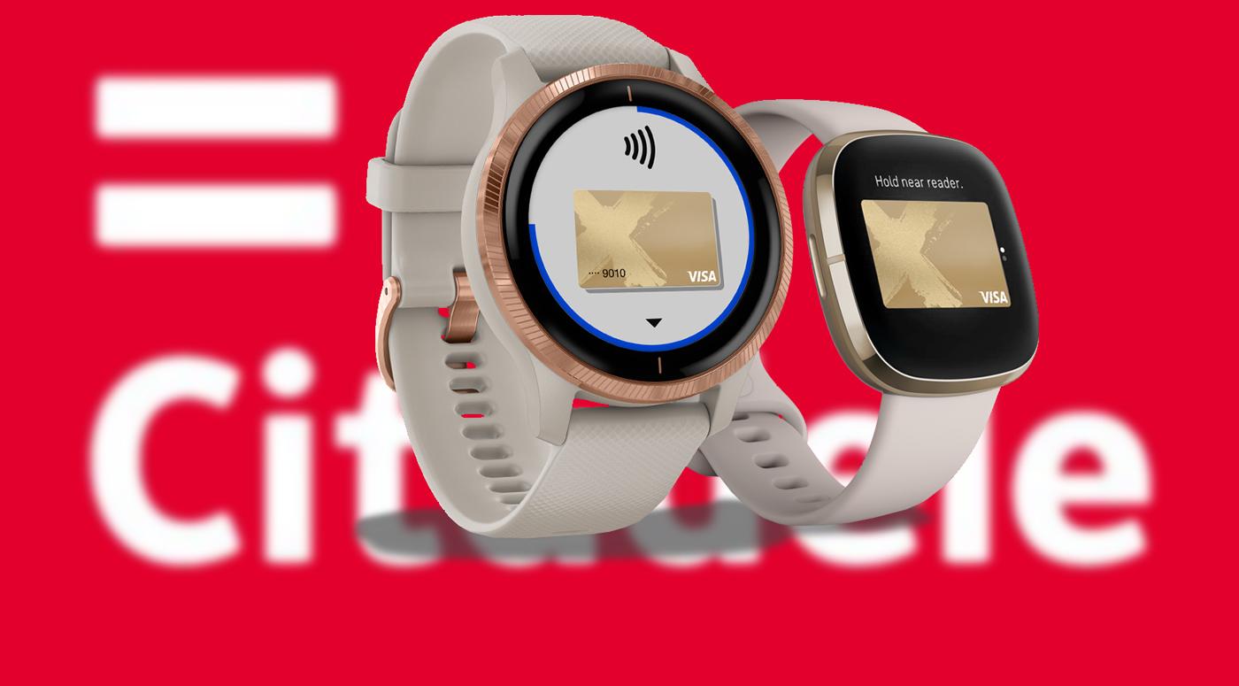 Банк Citadele: клиентам доступны платежи Fitbit и Garmin Pay