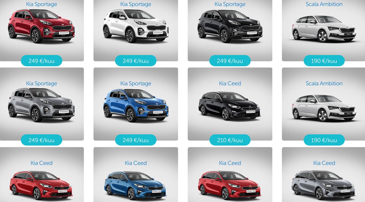 Автомобильный торговый центр Coop Liising пополнили модели Kia