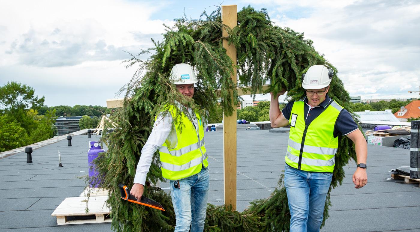 Тартуские Лофты DUO отметили праздник стропил