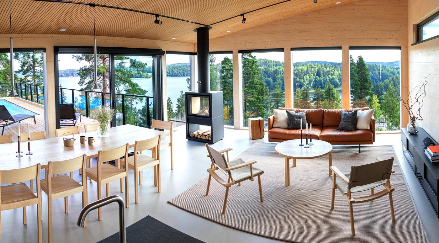 Finnlog построил эксклюзивную виллу для финской ярмарки жилья