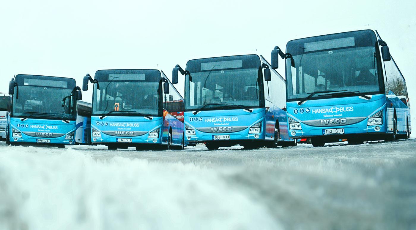 Hansabuss: новые автобусы и 253 отправления ежедневно