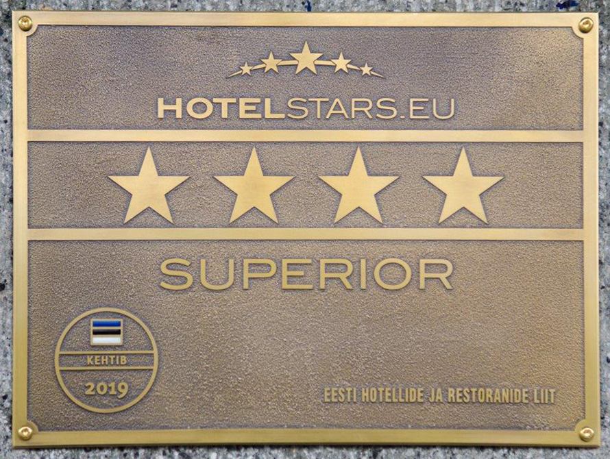Четыре звезды Superior — у отеля Palace
