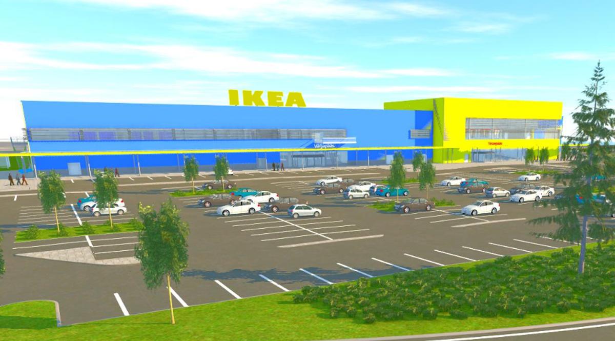 Nordecon построит новый магазин для IKEA