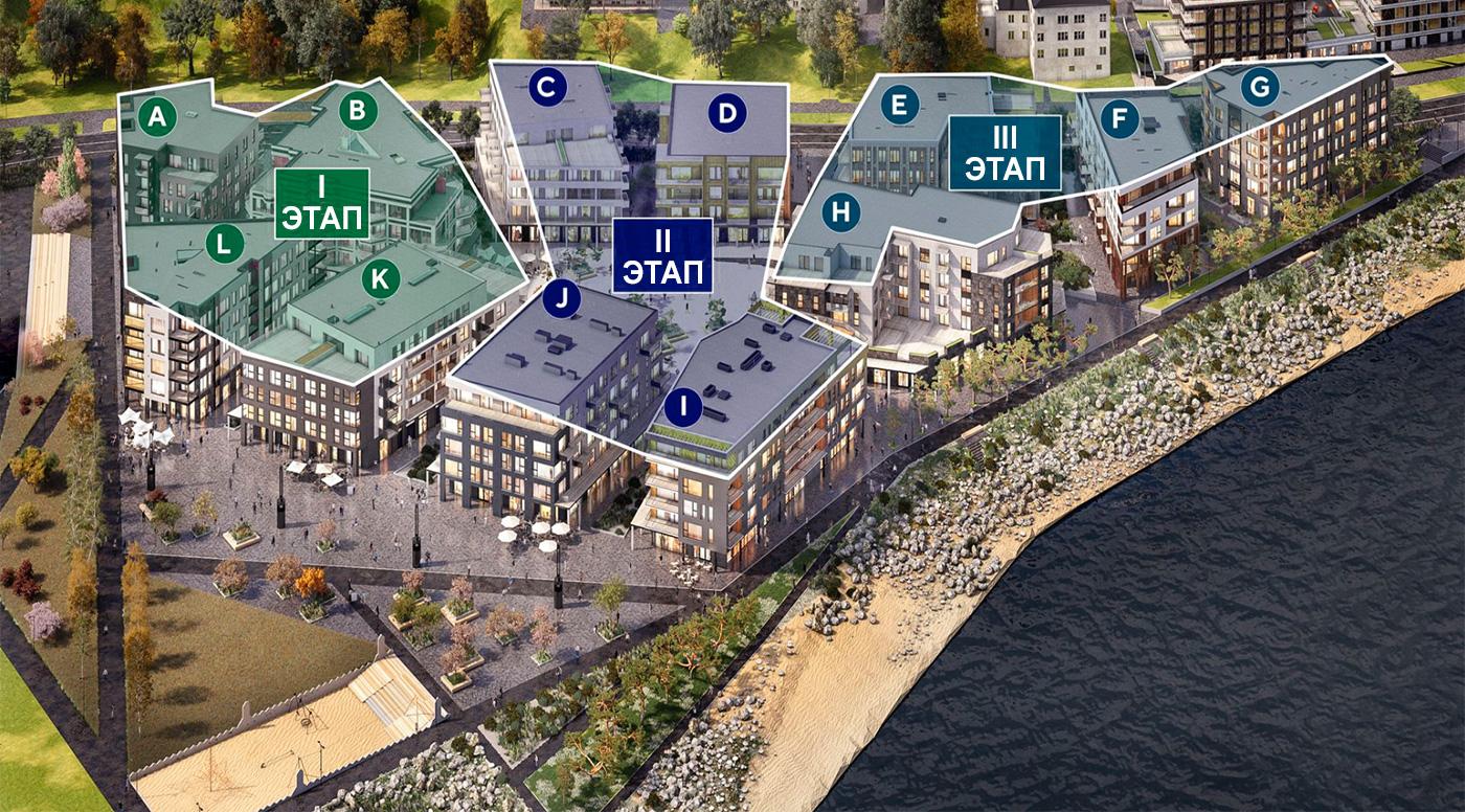 Первые два этапа строительства таллиннского  квартала Каларанна, выполнит Nordecon