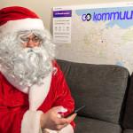 Kommuun: Современный Дед Мороз приходит в дома посредством видеосвязи