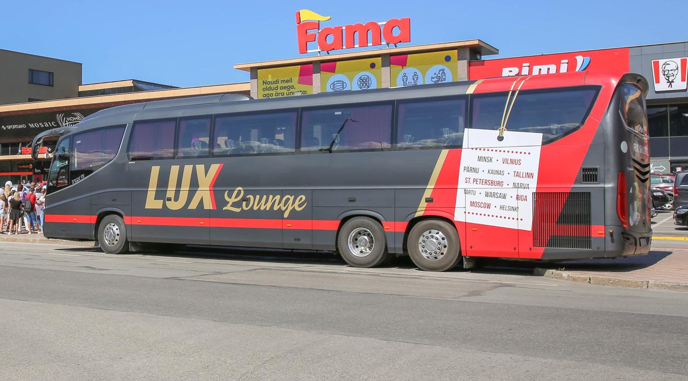 Компания Lux Express открыла новую остановку в центре Нарвы