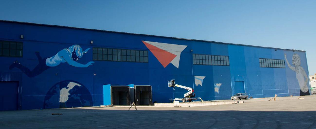 В Юлемисте-Сити завершено самое большое граффити в Балтии