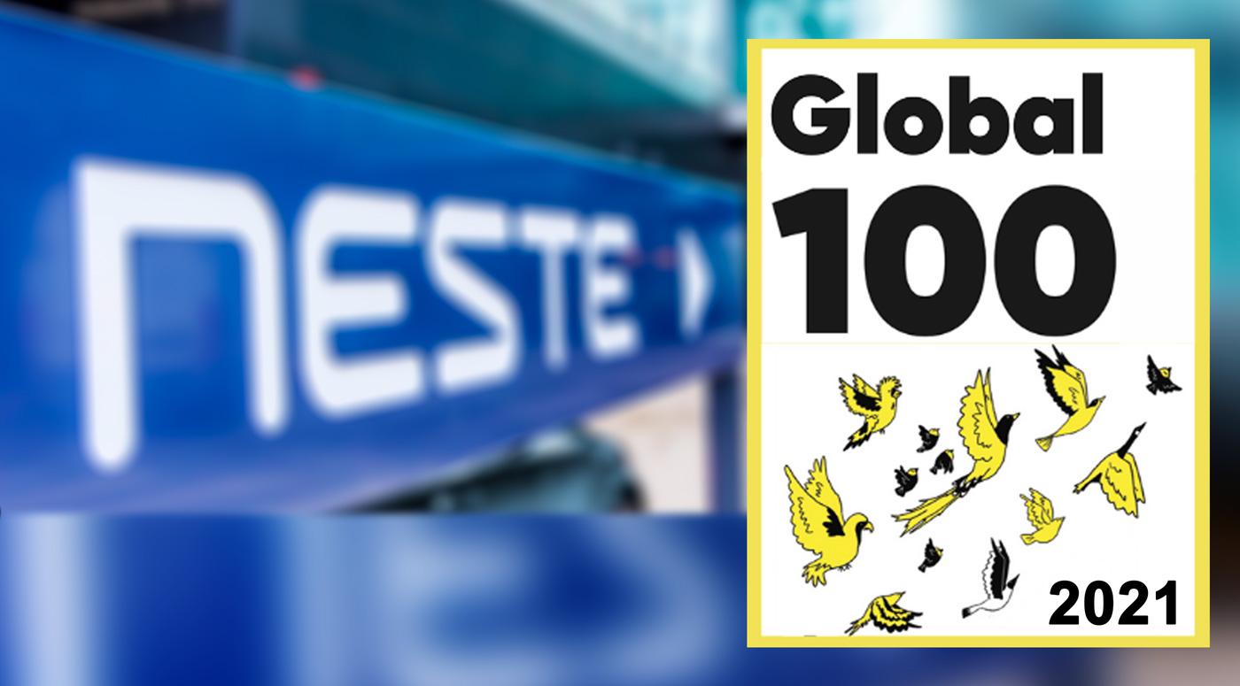 2021 Global 100: Neste – четвертая компания в мире по степени устойчивости
