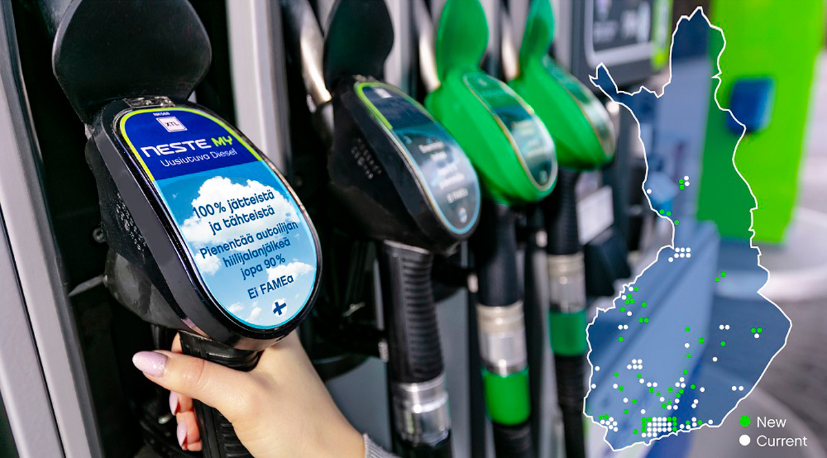 Компания Neste: топливо MY Renewable Diesel – еще на 51 заправке в Финляндии