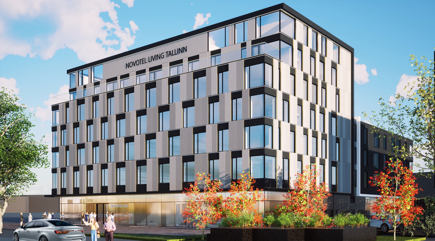 В Эстонии появится первый в странах Балтии отель Novotel Living