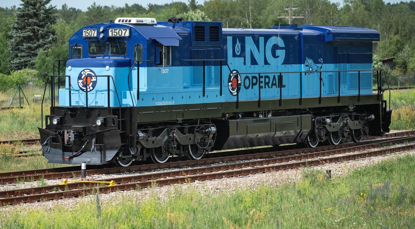 Operail: Первый линейный СПГ-локомотив — построен!