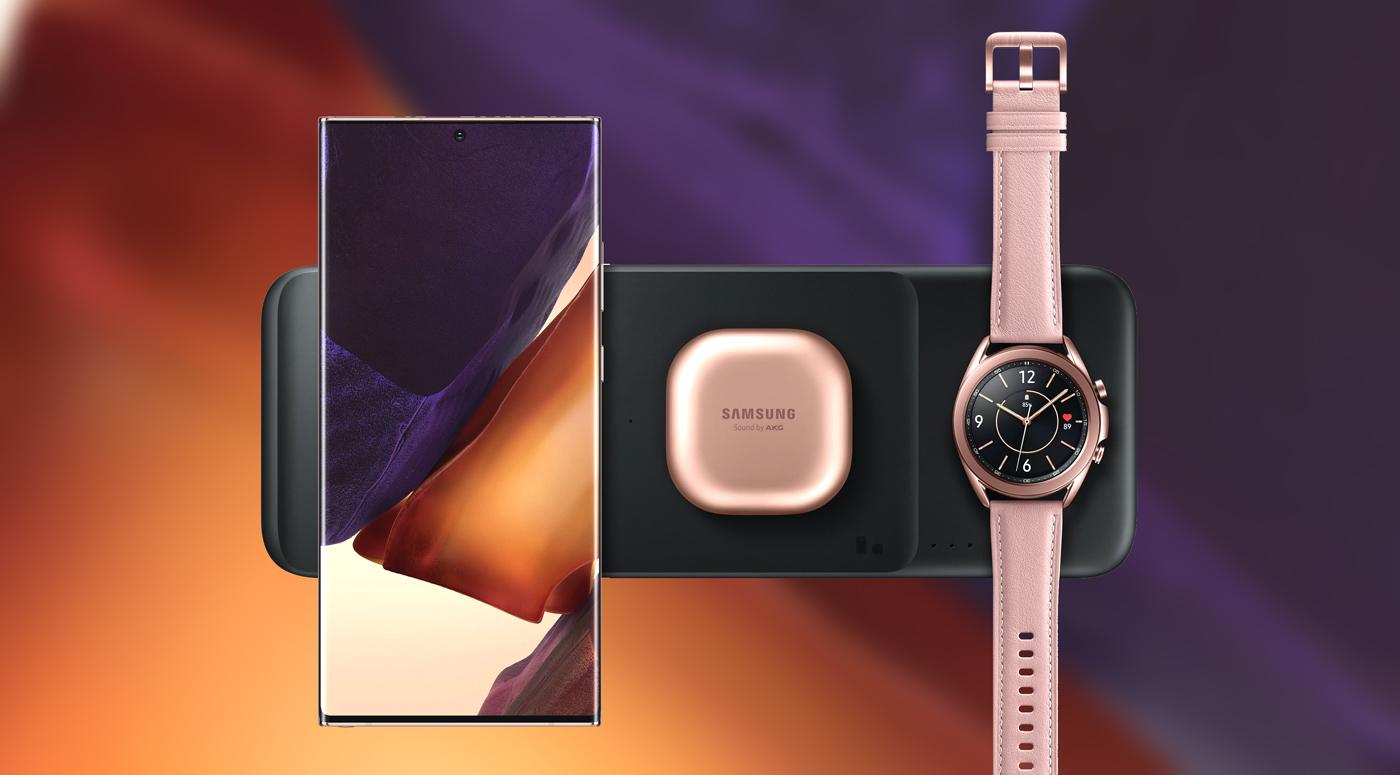 Сразу три гаджета сможет заряжать новое беспроводное зарядное устройство Samsung