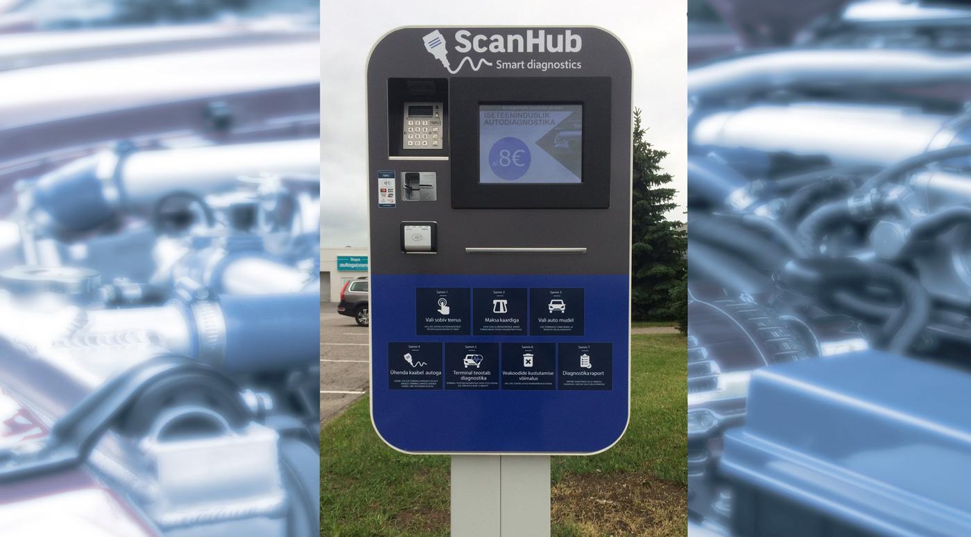 ScanHub: первый терминал самообслуживания по диагностике автомобилей открылся в Эстонии