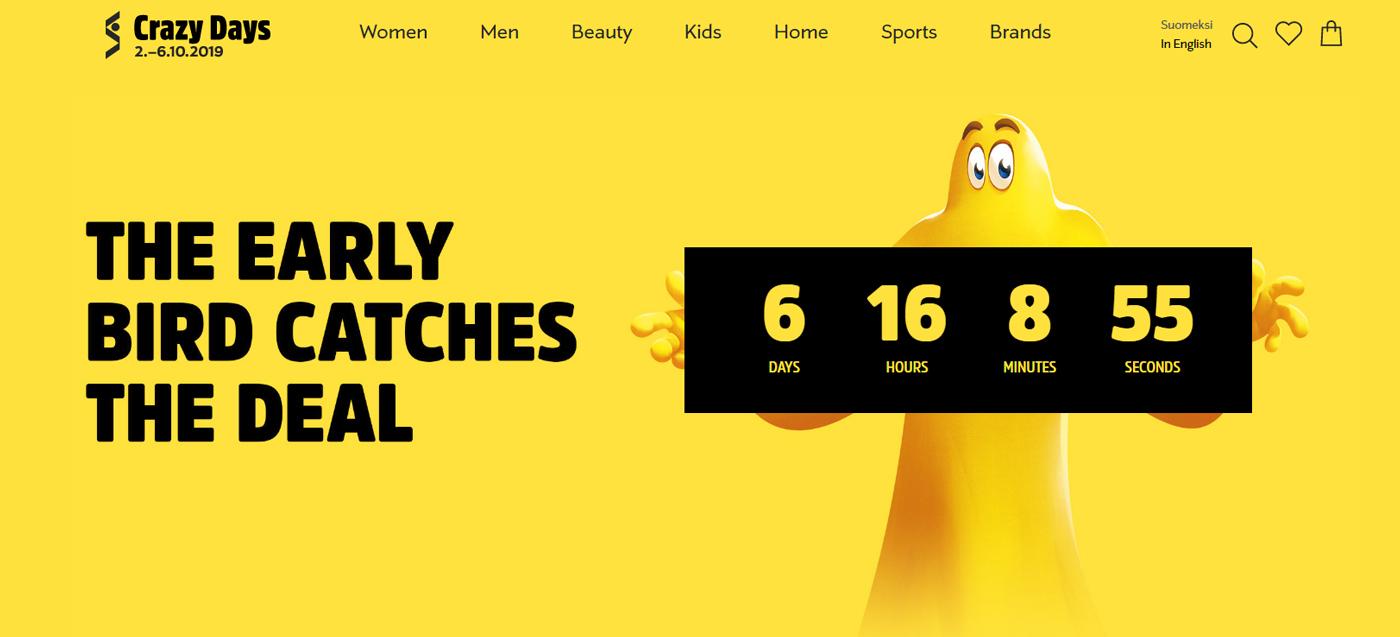 Stockmann: По случаю кампании «Сумасшедшие дни» будет открыт онлайн-магазин