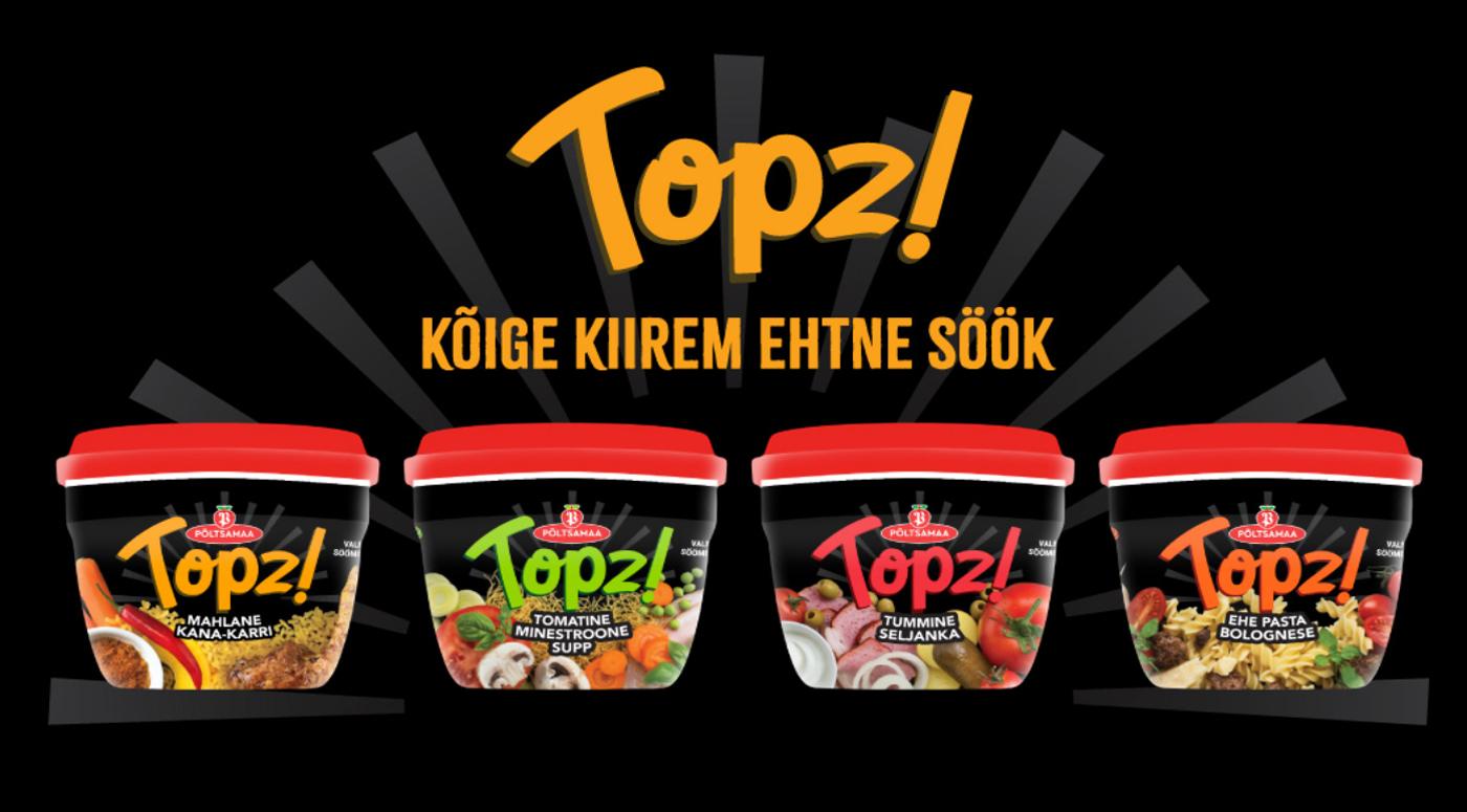 Новинка: обеды Põltsamaa Topz! — удобно, быстро, вкусно