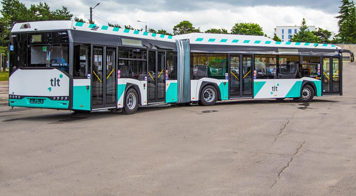 Первые экологически чистые газовые автобусы прибыли в Таллинн
