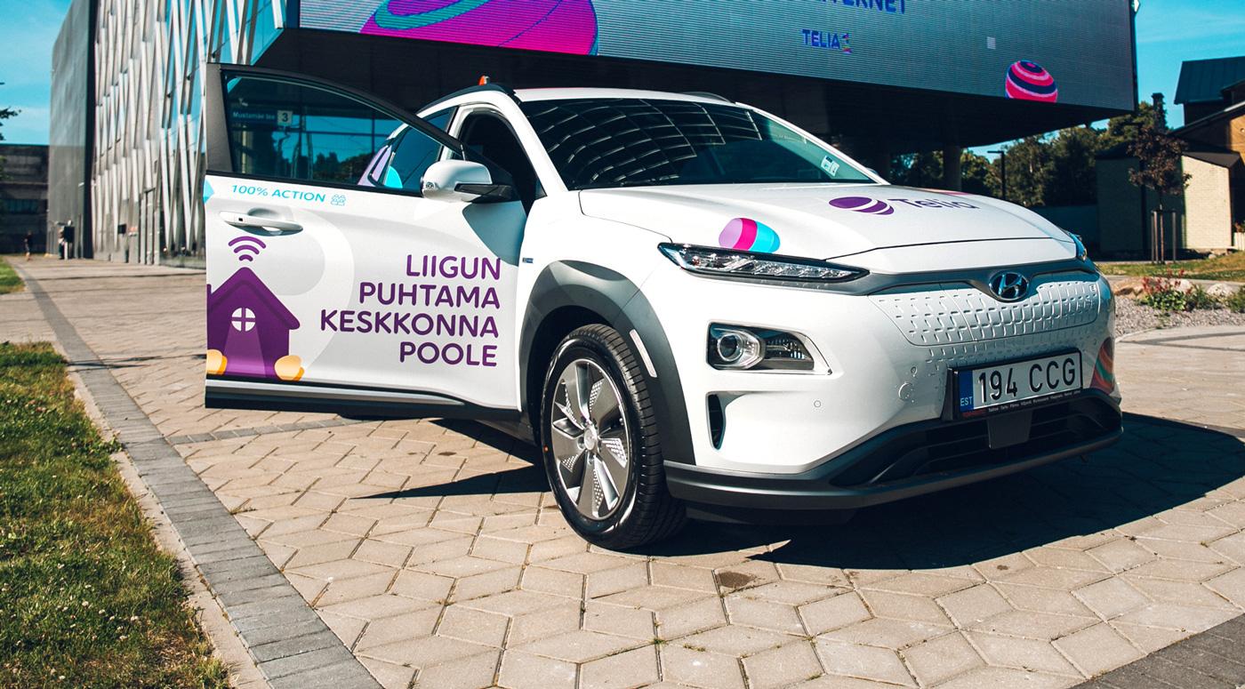 Telia меняет свой автопарк на электромобили