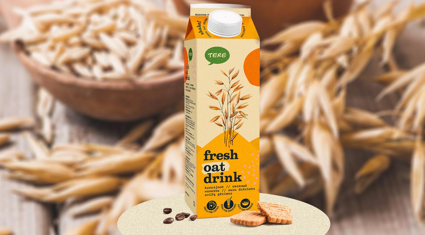 Овсяное молоко Tere – первый растительный напиток на молочном прилавке