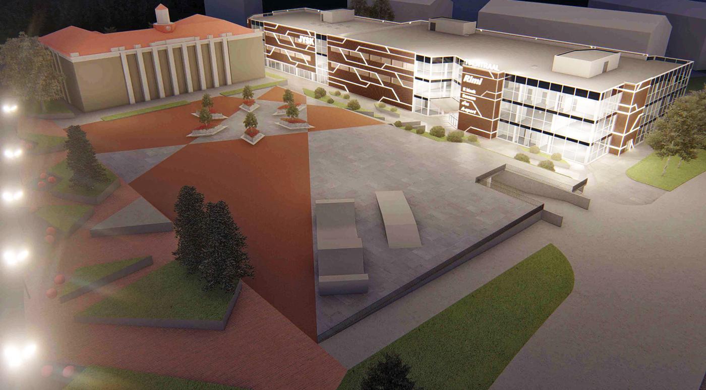 Реконструкция Tsentraal изменит облик центральной площади Йыхви