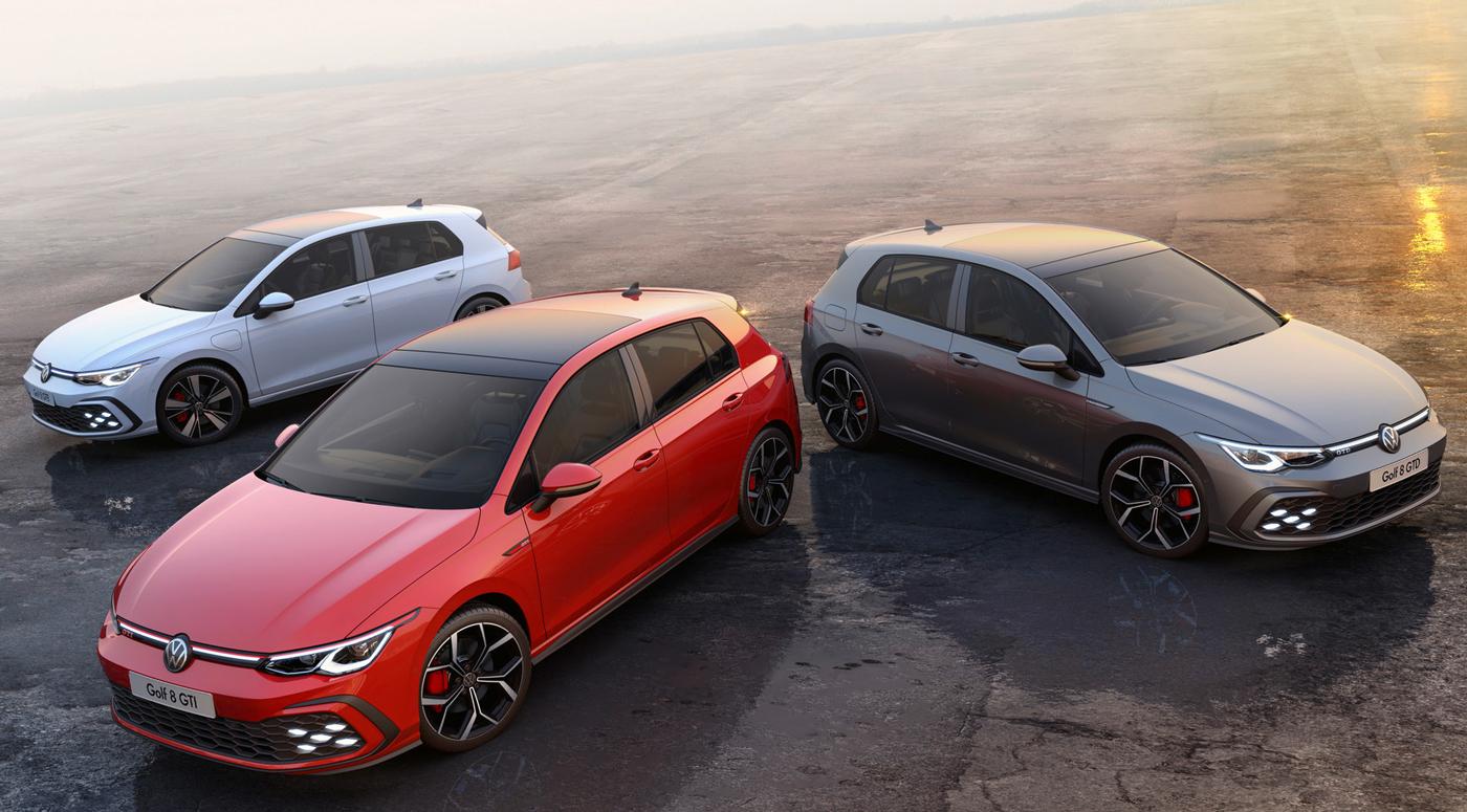"""Новые """"Гольфы"""" GTI, GTD и GTE – спортивная семья Volkswagen в сборе"""