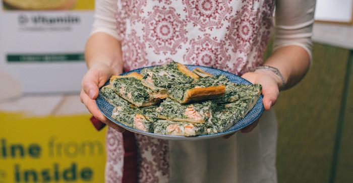 Пирог с форелью и шпинатом от Сильи Луйде. Фото: Рауль Меэ