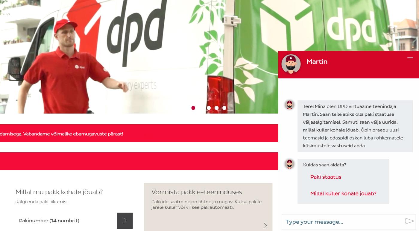 DPD Eesti: к вашим услугам — круглосуточный виртуальный ассистент