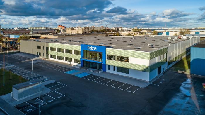 Здание нового завода Éolane Tallinn AS . Фото: Андрес Раудъялг