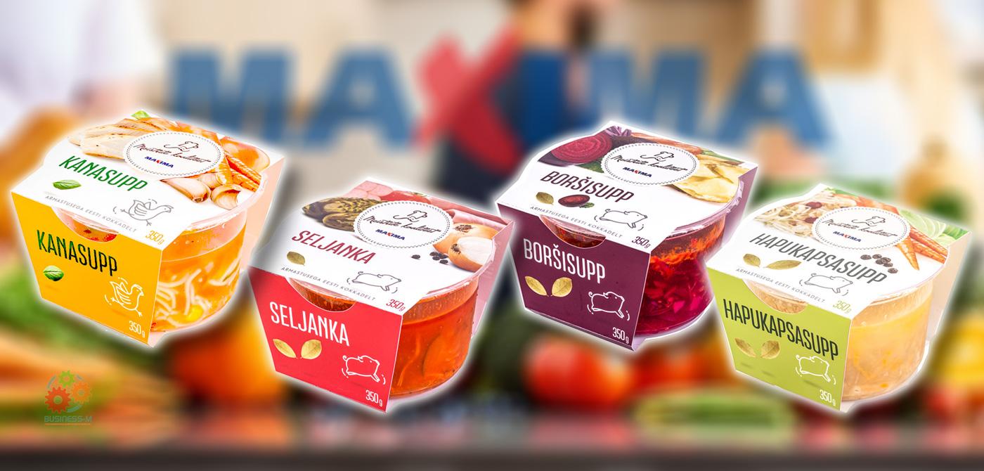 Ассортимент готовой еды Maxima пополнился супами серии «Качество мастеров»