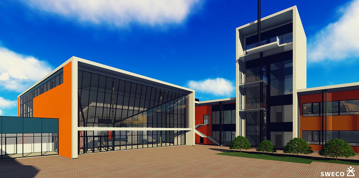 Kindluse Kool — Nordecon построит в Пеэтри новую основную школу