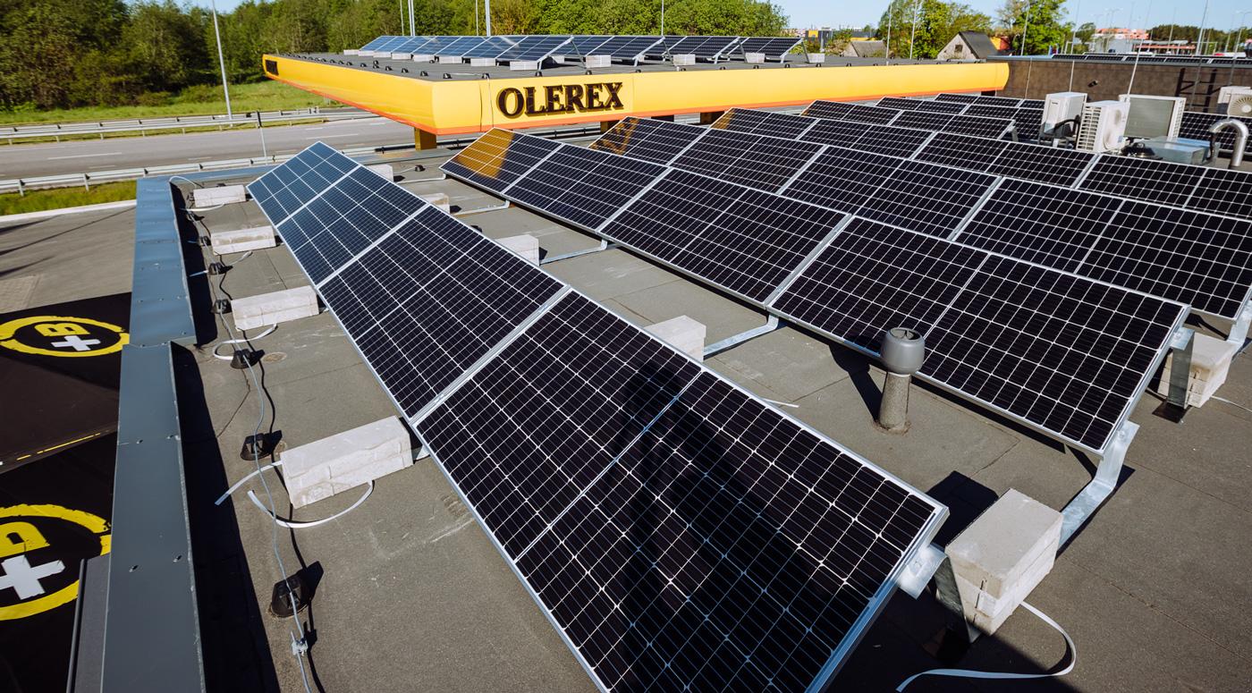 Olerex на своих станциях начнет производить электричество из солнечной энергии