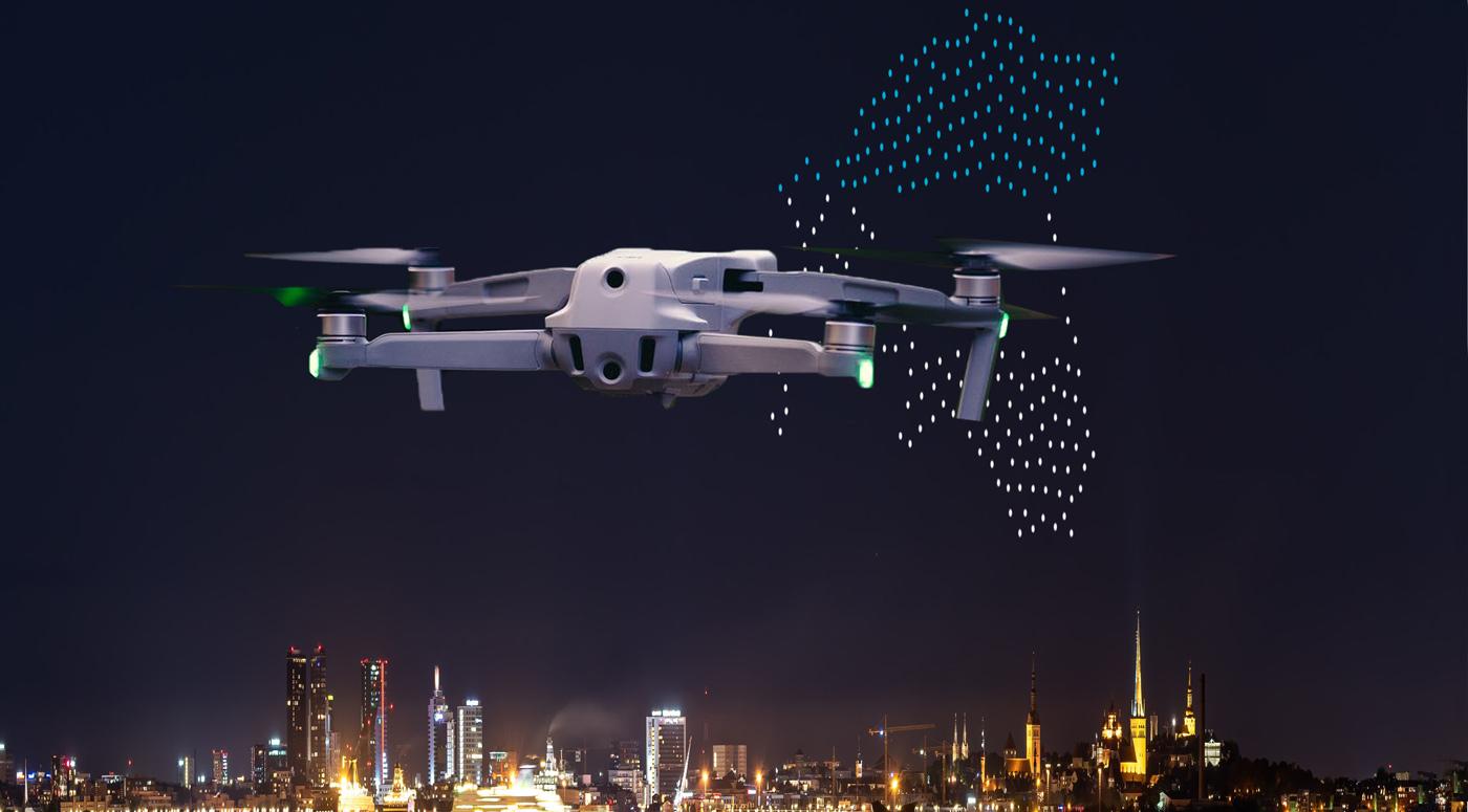 Уникальное шоу дронов над таллиннским Горхоллом