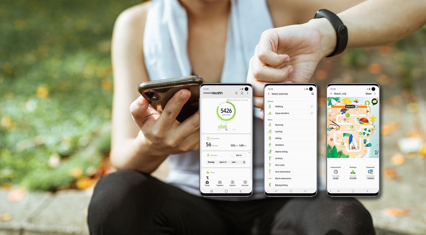 Samsung Health – самое популярное фитнес-приложение в Эстонии