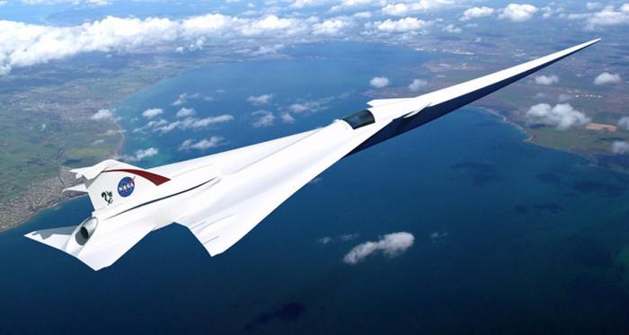 Прототип самолета X-59 Quiet Supersonic Technology